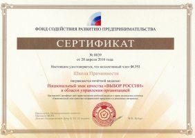 Медаль =Выбор РОССИИ= Школе